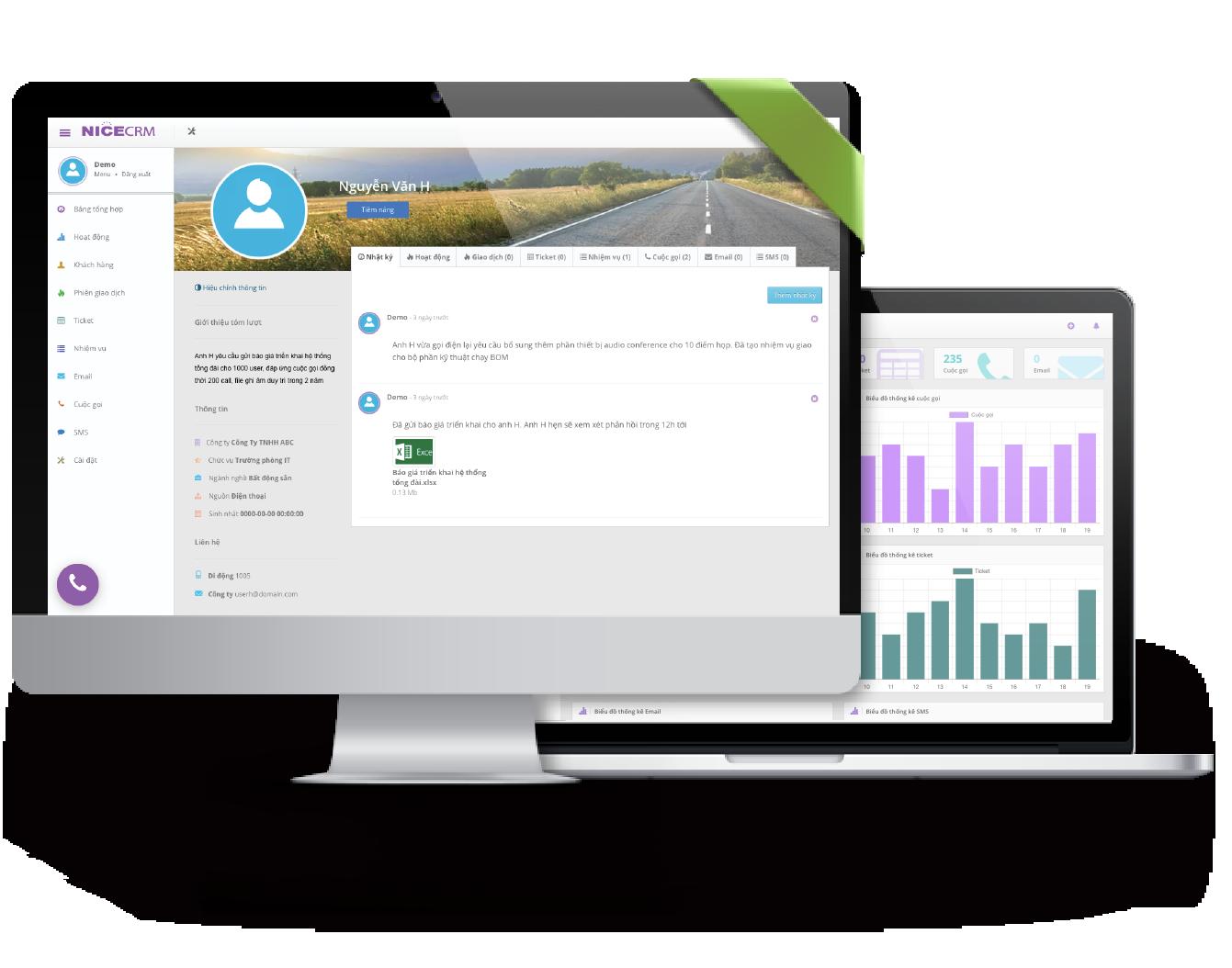 Hệ thống quản trị khách hàng - NICE CRM